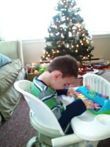 Composing his Christmas piano concerto